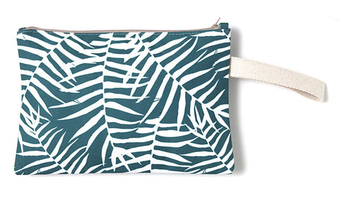 Tropical green designer summer clutch bag
