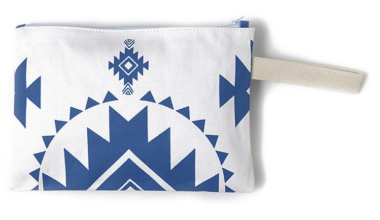 Blue summer clutch bag