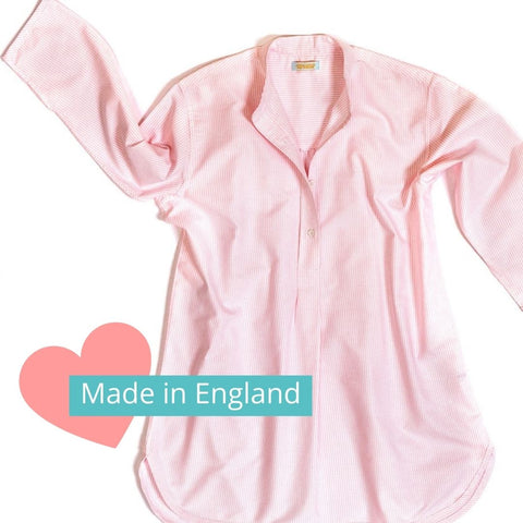 nightwear made in England Alice & Astrid