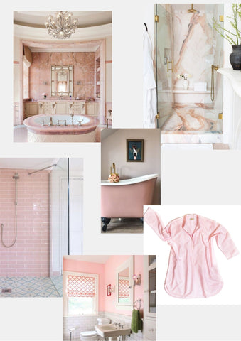 Pink bathroom and nightwear inspiration Alice & Astrid