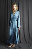 silk dressing gown made in England luxury nightwear Alice & Astrid