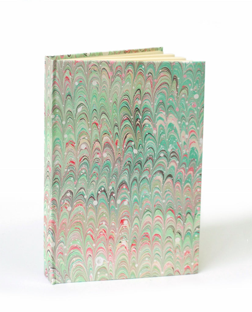 Marble note book A5 lined green non pareil