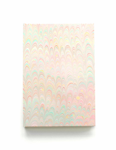 Marble note book A5 lined pastel non pareil