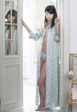 silk dressing gown luxury nightwear made in England Alice & Astrid