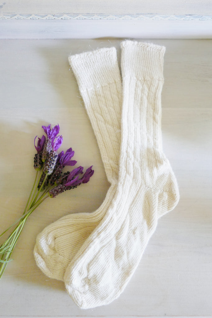 Alpaca bed socks made in England