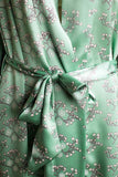silk satin snowberry dressing gown detail