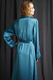silk dressing gown back