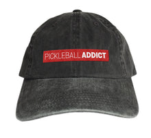 "Load image into Gallery viewer, Pickleball Addict ""Worn Look"" Embroidered Hat"