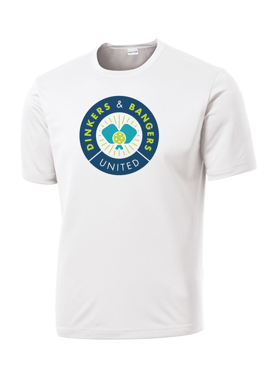 Dinkers & Bangers United - Performance Pickleball Tee - White