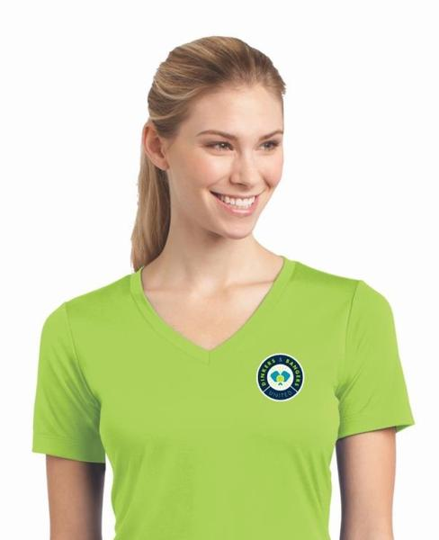 Dinkers & Bangers United™ - Womens Short Sleeve Pickleball Performance Tee - Chest Logo