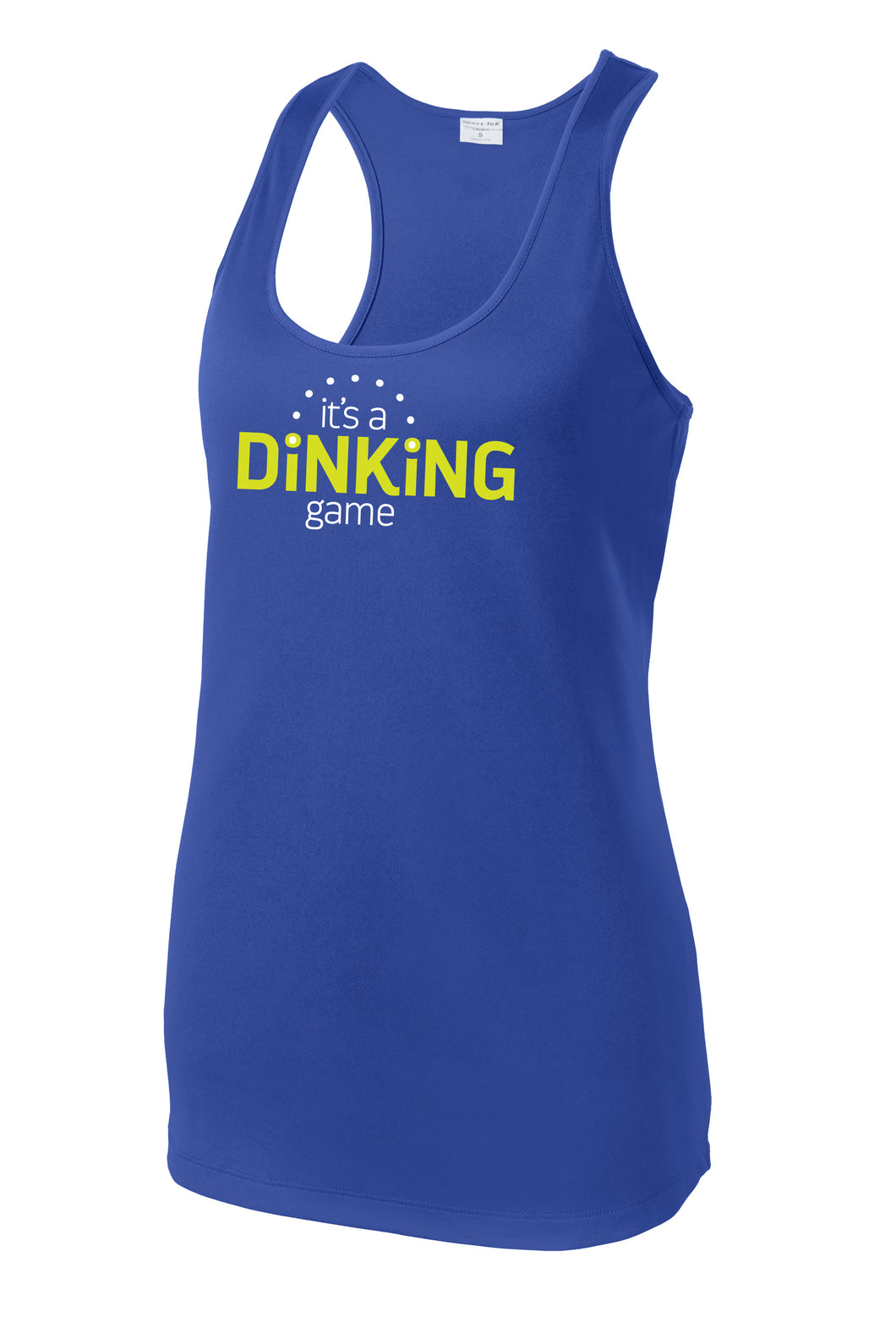 It's a Dinking Game - Womens Performance Racerback Tank