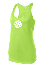 The Heart of Pickleball - Womens Performance Racerback Tank