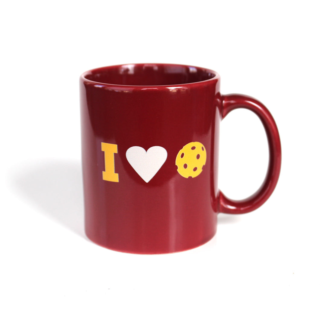 I Heart Pickleball - 11oz Red Mug