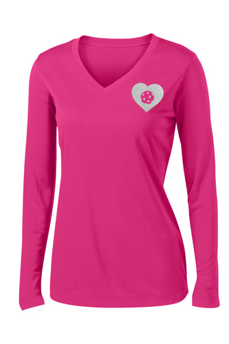 Glitter LOVE - Womens Performance Long Sleeve Tee