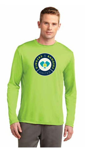 Dinkers & Bangers United™ - Mens Long Sleeve Pickleball Performance Tee - Chest Logo