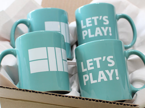 Let's Play Pickleball Court - Set of 4 Mugs