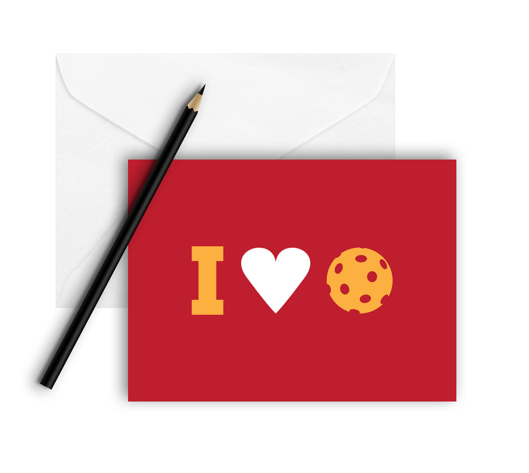 I Heart Pickleball Note Cards (Set of 8)
