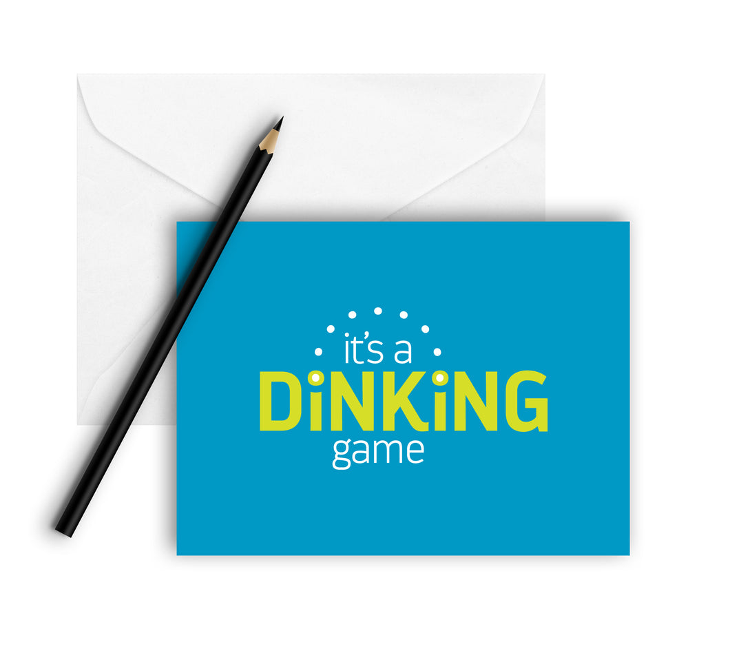 It's a Dinking Game Note Cards (Set of 8)
