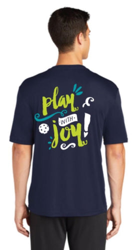 Play with JOY! -  Mens Short Sleeve Performance Tee - 2 sided