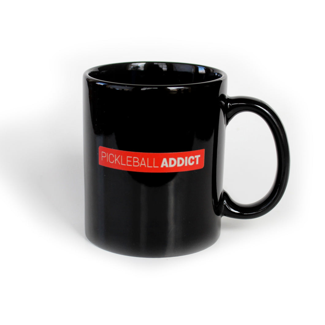 Pickleball Addict - 11oz Black Mug