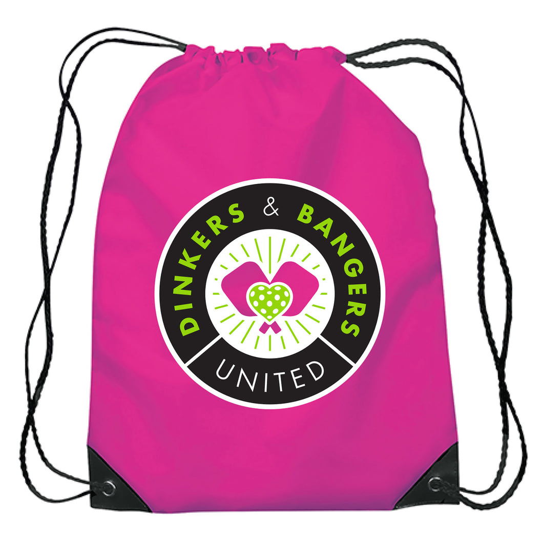 Dinkers & Bangers United™ - Love of the Game - Nylon Drawstring Bag
