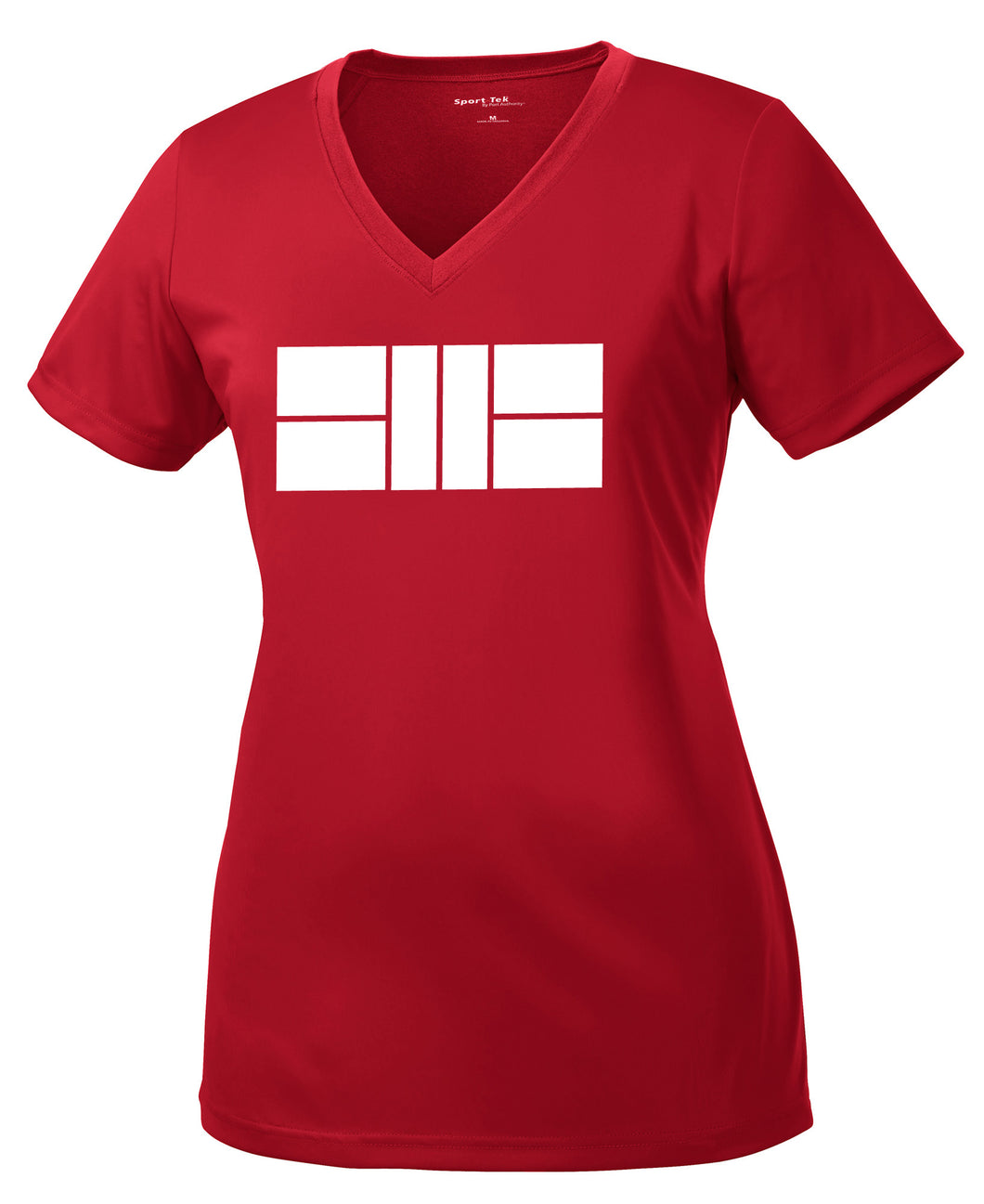 Pickleball Court - Womens Performance V Neck Tee