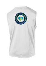 Load image into Gallery viewer, Dinkers & Bangers United™ Mens Sleeveless Performance Pickleball Tee - Back View