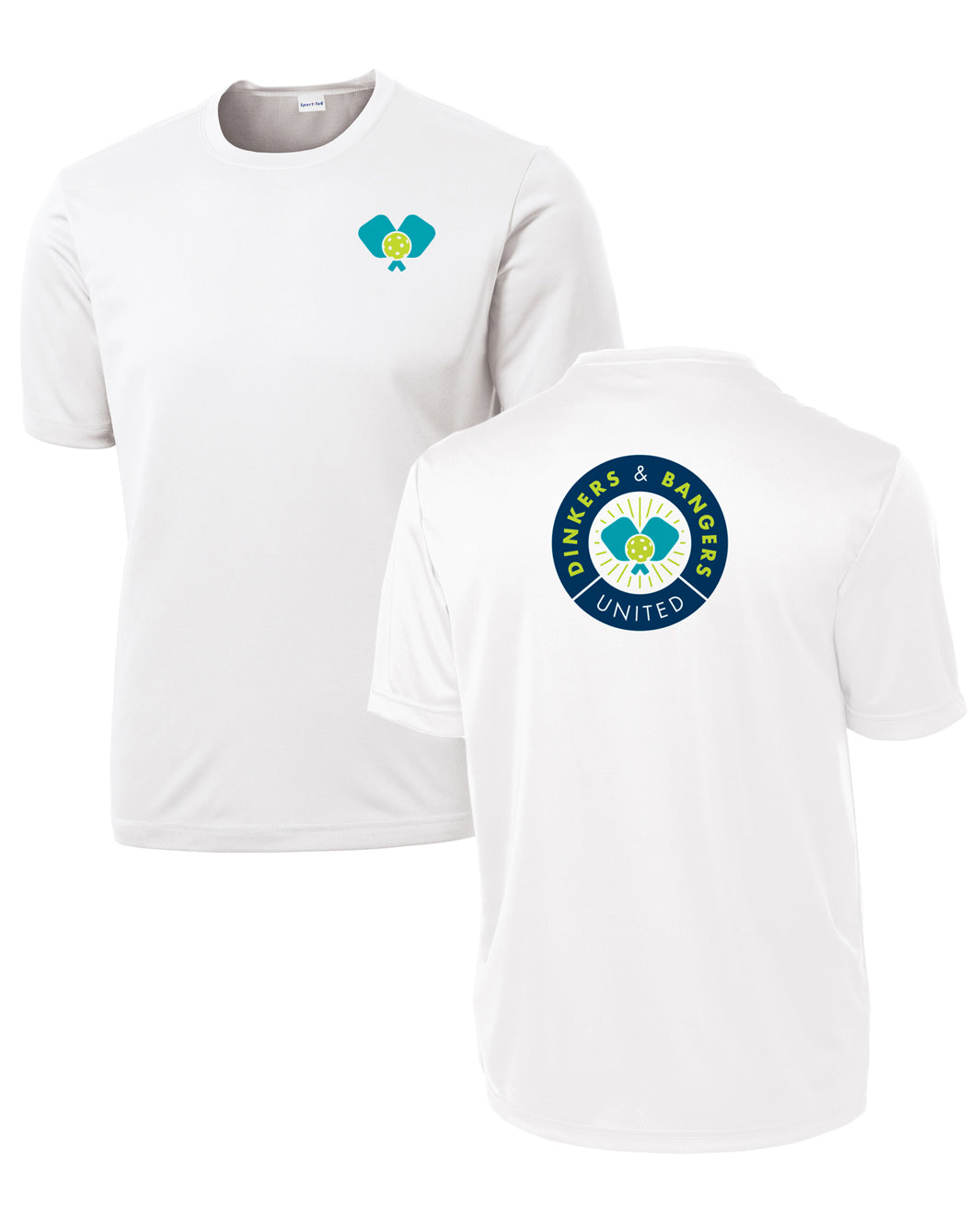 Dinkers & Bangers United - Performance Pickleball Tee - Two sided