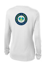 Load image into Gallery viewer, Dinkers & Bangers United™ Womens Longsleeve Performance Pickleball Tee - Back View