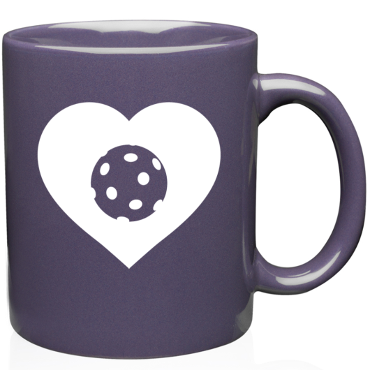 LOVE - Ceramic Pickleball Mug - 11oz