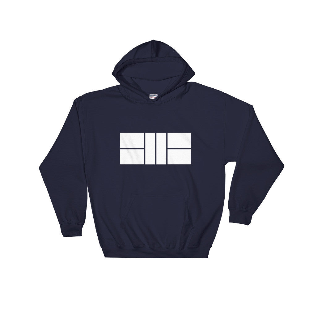 Pickleball Court Custom Hooded Sweatshirt Navy
