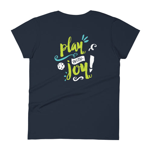 Play with JOY! - Women's Slim Fit Cotton Tee