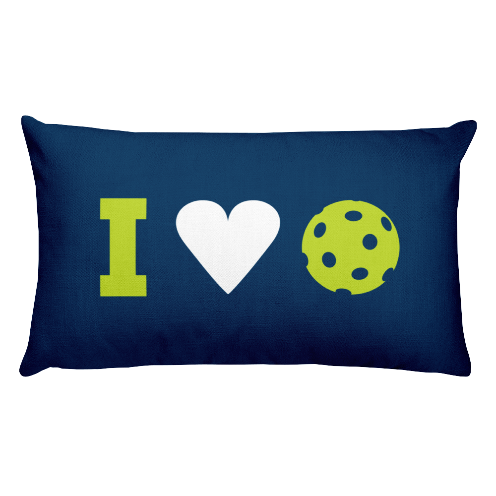 I Heart Pickleball - NEW Two-Sided Pillow