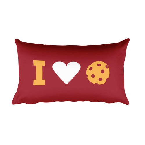 I Love Pickleball Custom Pillow
