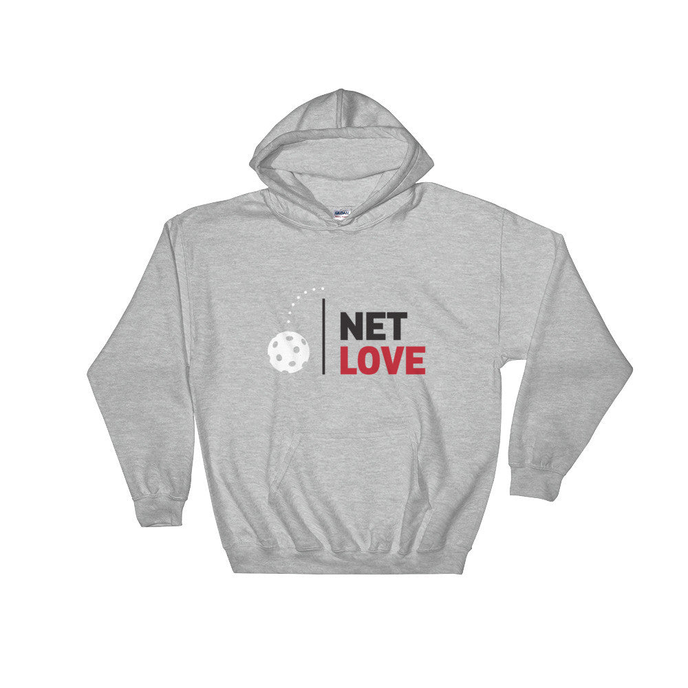 Net Love Pickleball Custom Hooded Sweatshirt Design