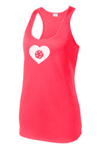 Pickleball LOVE - Womens Performance Racerback Tank