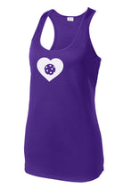 Load image into Gallery viewer, Pickleball LOVE - Womens Performance Racerback Tank