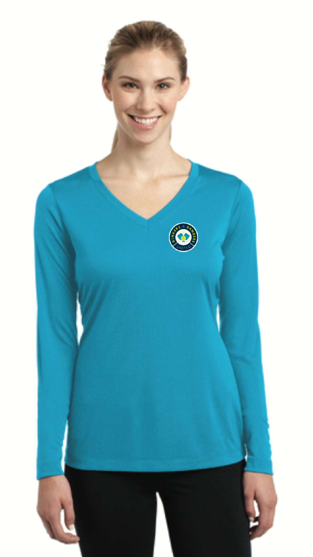 Dinkers & Bangers United™ - Womens Long Sleeve Performance Tee - Chest Logo