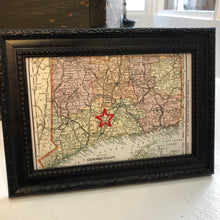 Hand Embroidered Map