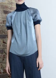 Triple Silk T-Shirt / Blue