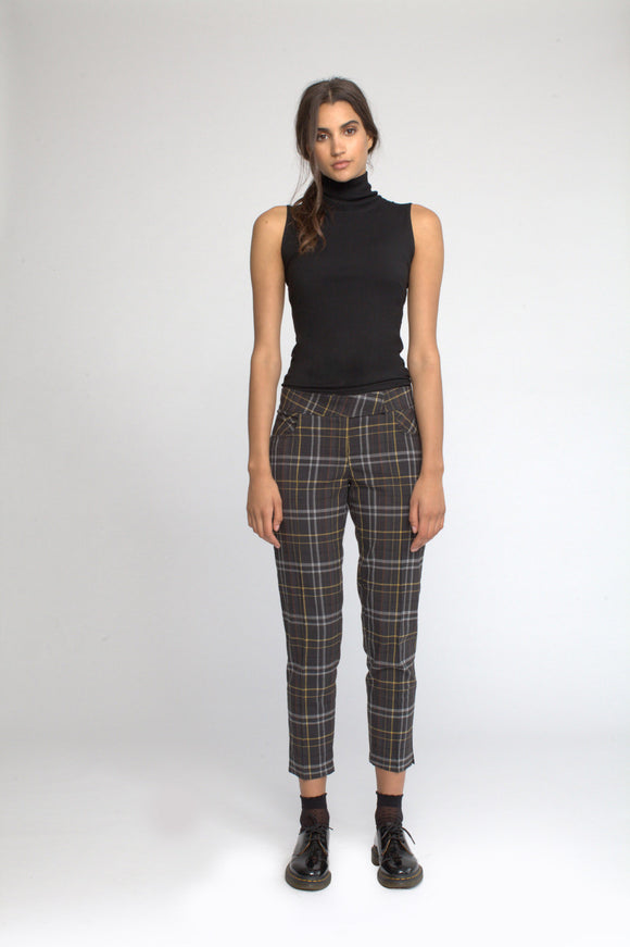 Cigarette Pant in Tattersall Plaid