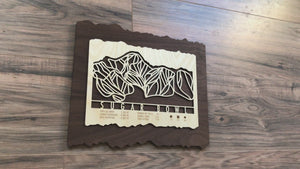 Sugar Bowl Ski Decor Trail Map Art