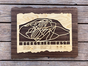 Berkshire East Ski Decor Trail Map Art - MountainCut