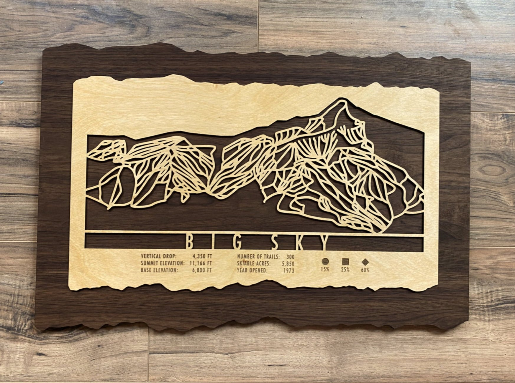 Big Sky Decor Trail Map Art