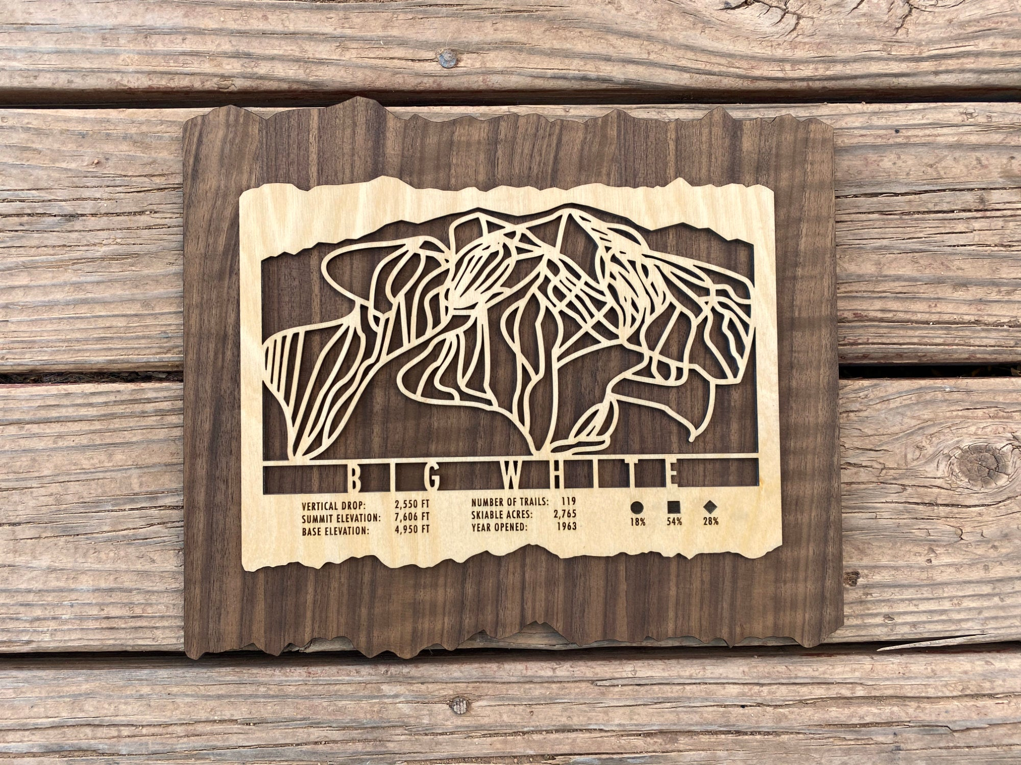 Big White Ski Decor Trail Map Art