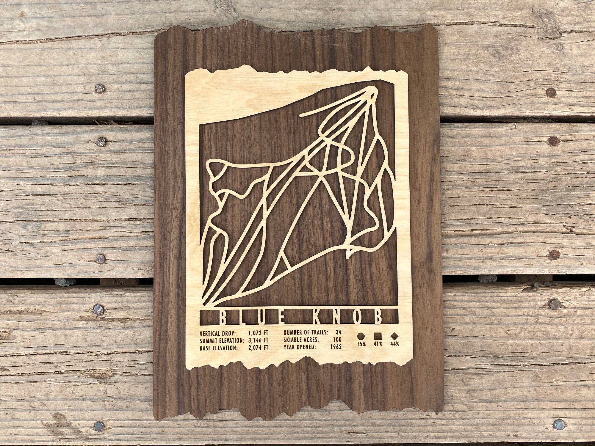 Blue Knob Ski Decor Trail Map Art