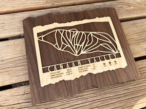 Canaan Valley Ski Decor Trail Map Art