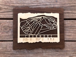 Cranmore Ski Decor Trail Map Art - MountainCut