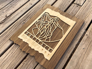 Haystack Ski Decor Trail Map Art