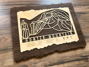 Hunter Mountain Ski Decor Trail Map Art - MountainCut